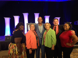 The ACCESS team with conference speaker, Wes Moore.