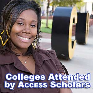 Colleges Attended by Access Students